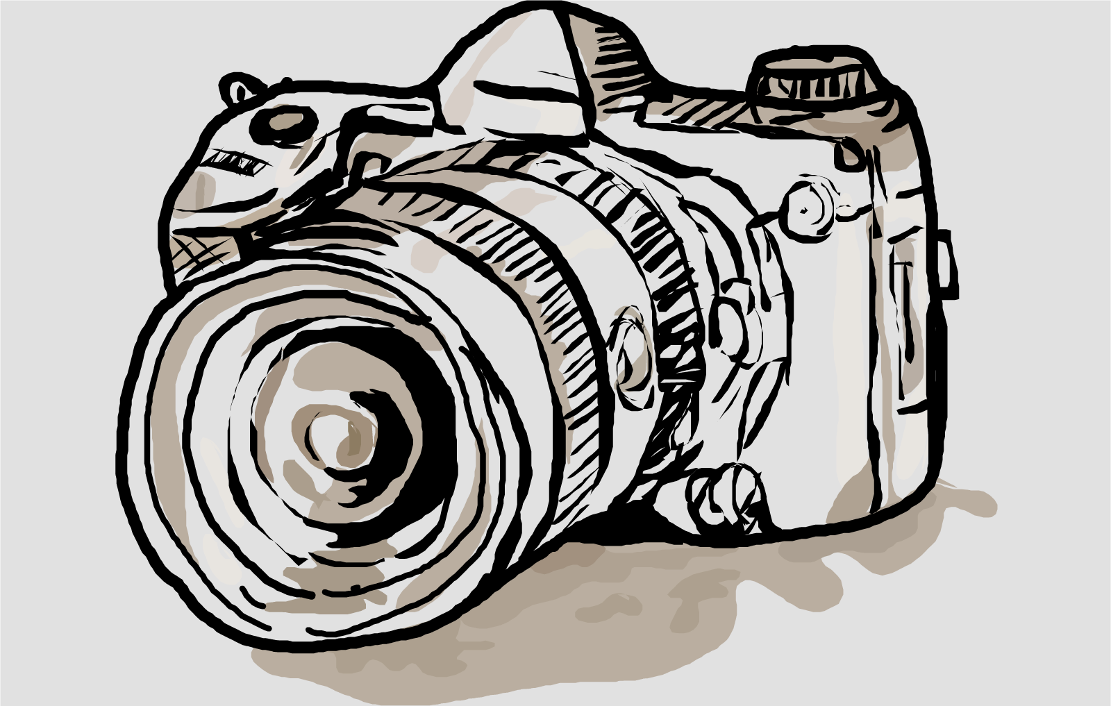 It is a picture of Challenger Canon Camera Drawing
