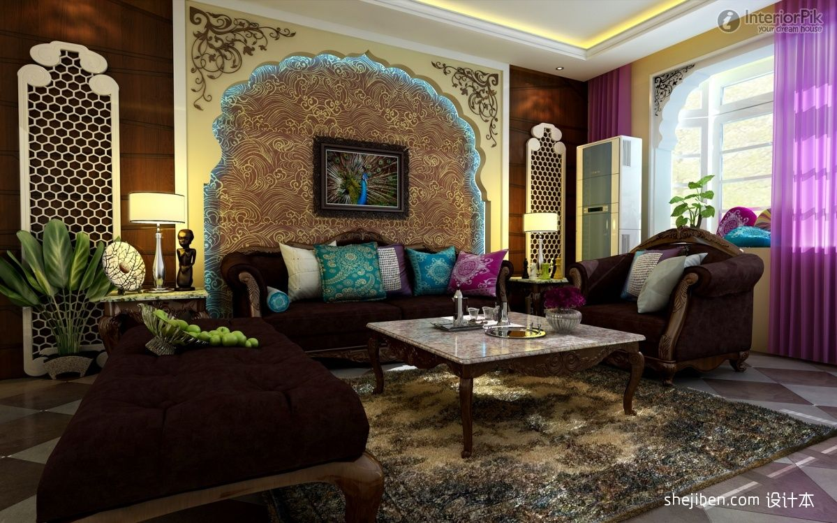 peacock inspired living room peacock style rooms thai style living room sofa effect 14552
