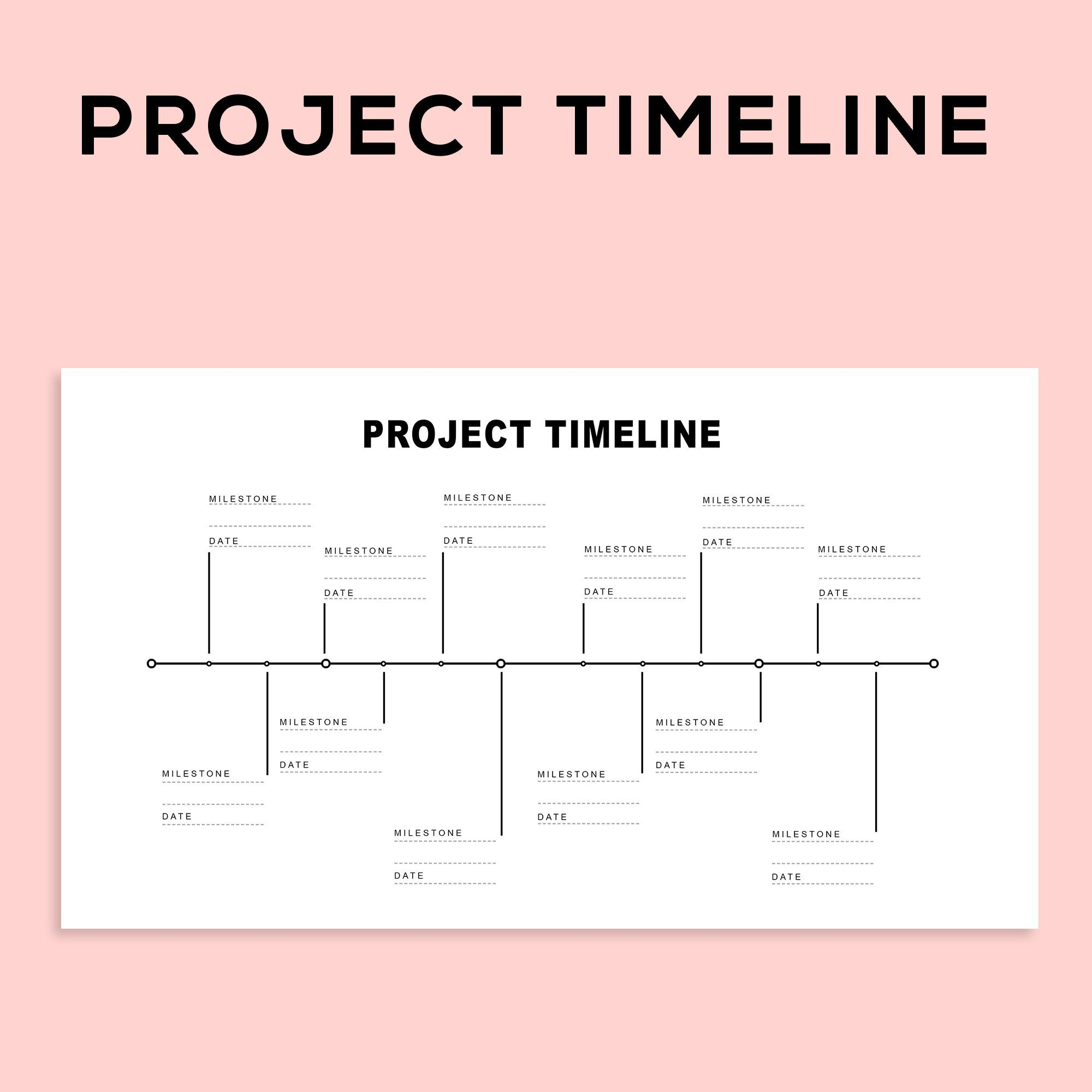 Project Management Scheduling Milestone Timeline Charts