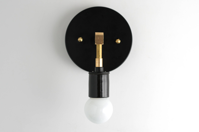 Minimalist Sconce Modern Wall Light Black Gold Sconces Brass Light Fixture Industrial Sconce Model No 8578 Modern Sconces Industrial Light Fixtures Modern Wall Lights