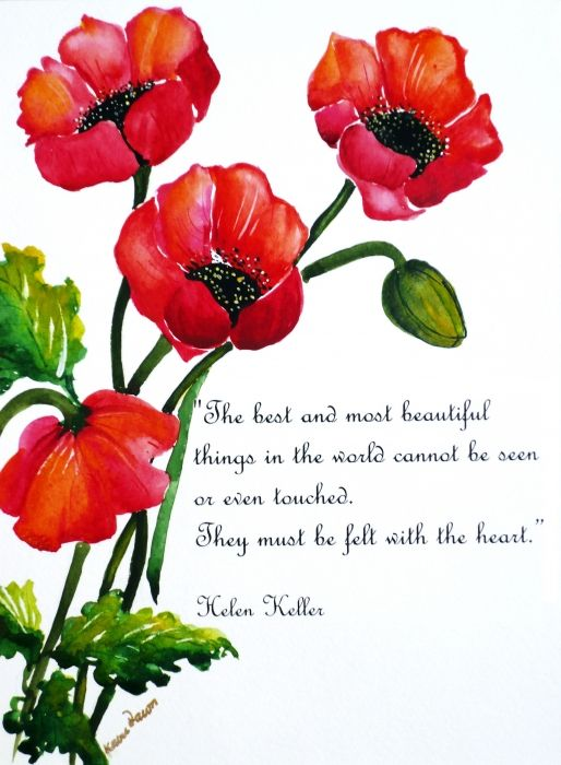 Best And Most Beautiful Things Must Be Felt With The