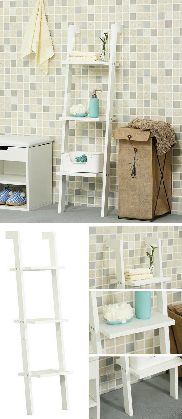 la bonne ide dco rangement pour la salle de bain une chelle super - Rangement Pratique Salle De Bain