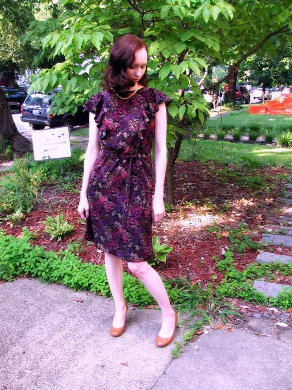 The First dress of Autumn (Simplicity 2360) | Green apples