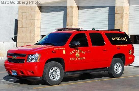 Las Vegas Nv Fd Battalion 1 Chevy Fire Trucks Fire Engine