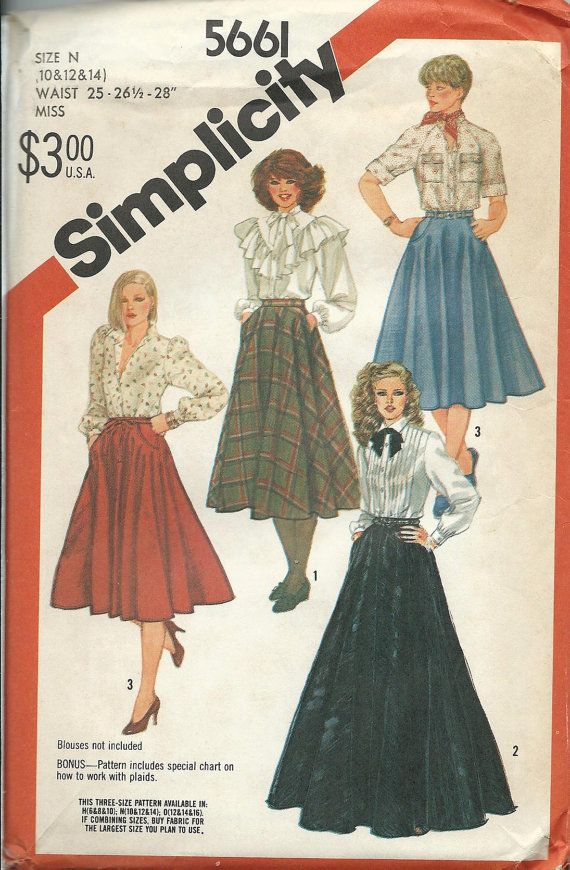 Butterick Sewing Patterns OOP VTG Bags Tops Skirts Dresses Skirt