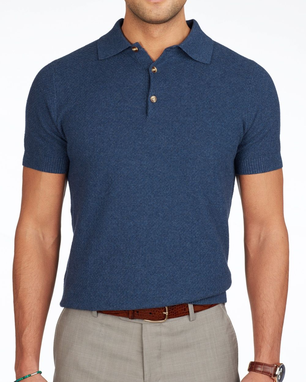 Stone Blue Short Sleeve Polo Knitwear Mens Pinterest Mens