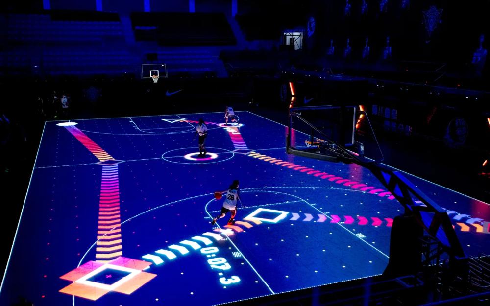 Rise 2 0 Akqa Basketball Training Indoor Basketball Court Basketball Court