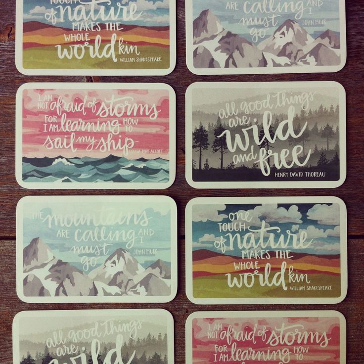 illustrated post cards
