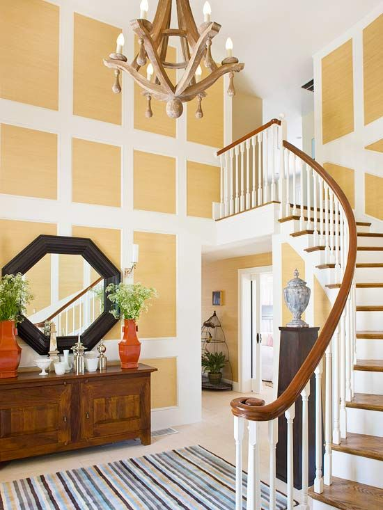 Entryway Tall Wall Decor Foyer Decorating Home Decorating tall living room wall