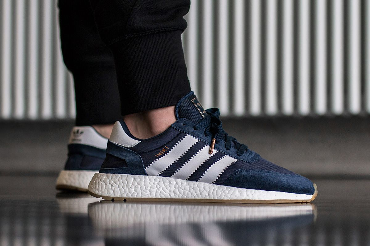 On Foot: adidas INIKI Runner (Red & Collegiate Navy) - EU Kicks Sneaker