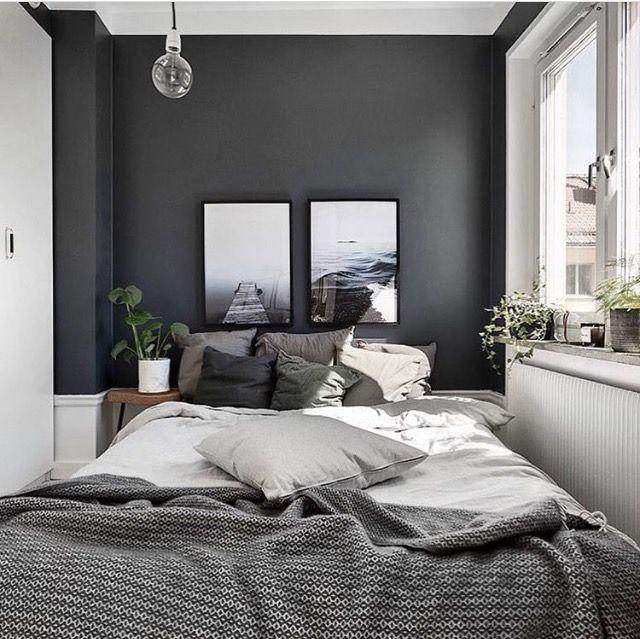 Pin By Christa Joyful On Casa Quarto Small Master Bedroom Home Decor Gray Walls