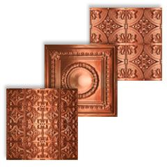 Great Link to Copper Ceiling Tile for our Living Room