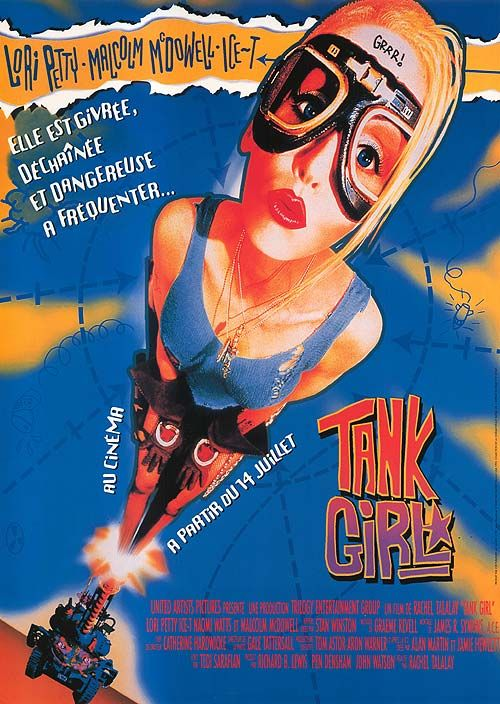 "Happy 20th Anniversary to this kitschy cult classic, ""Tank Girl""."