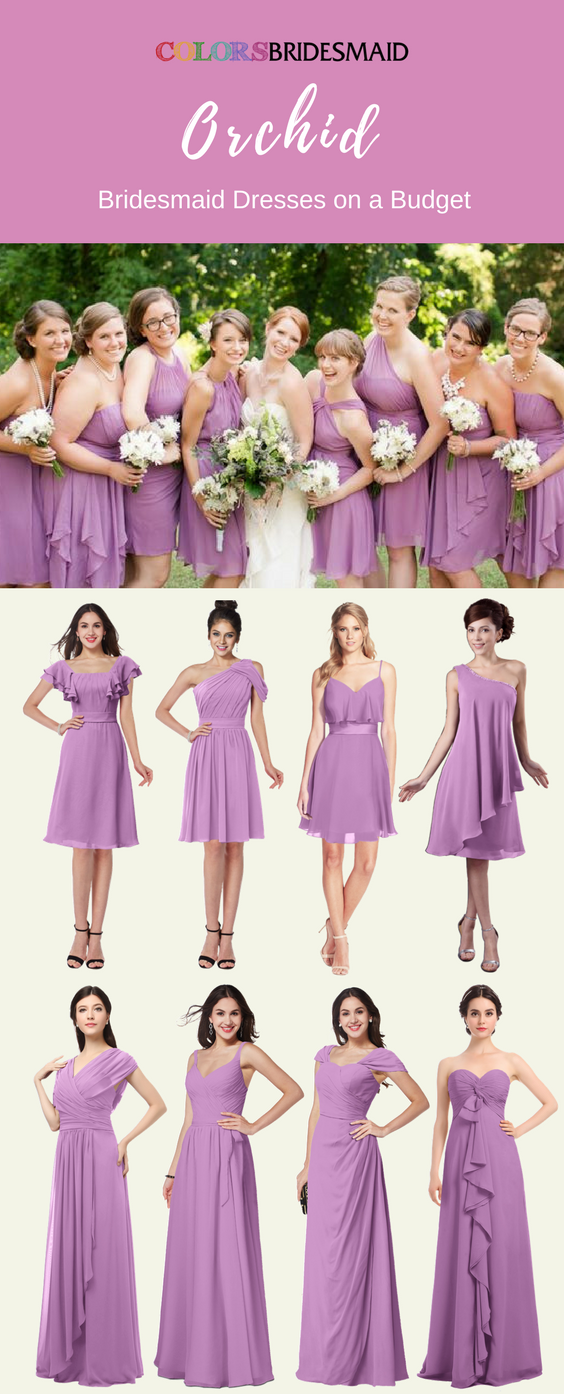 Marvelous Orchid Bridesmaid Dresses In Knee Length And Floor