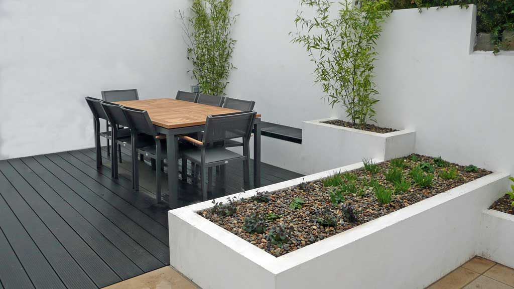 Garden Design Contemporary new design - urban garden - minimalist white chic | rogerstone