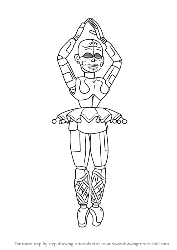 Learn How To Draw Ballora From Five Nights At Freddy S Five Nights At Freddy S Step By Step Drawing Fnaf Coloring Pages Fnaf Sister Location Fnaf Drawings