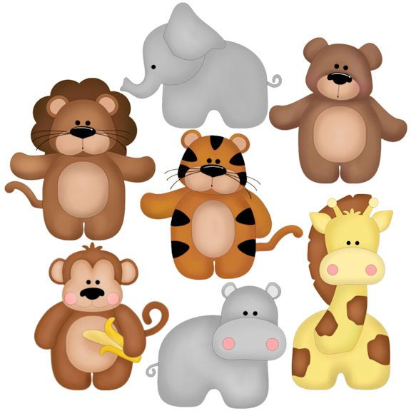 zoo babies - good idea for applique