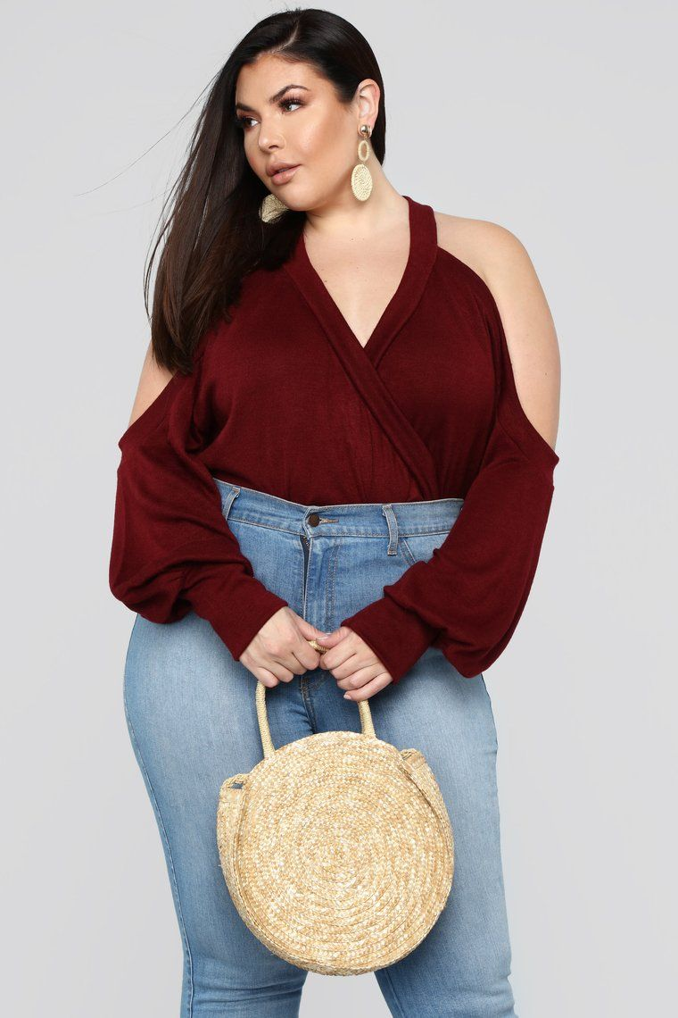 fa662be33f412 Shayla Cold Shoulder Top - Wine | WANT | Tops, Cold shoulder, Wine