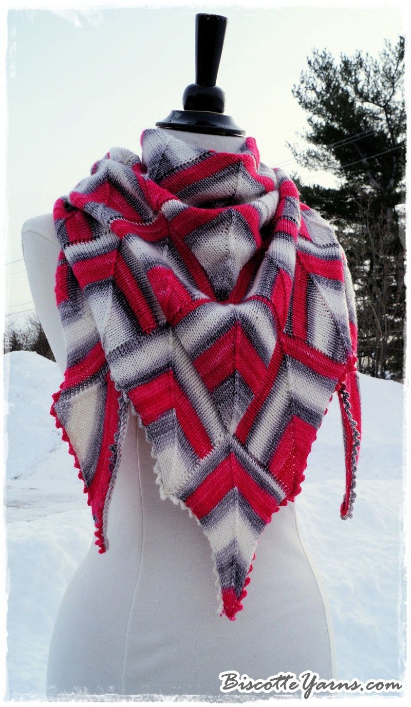 Shawl pattern Diamonds Are a Girl\'s Best Friend from Biscotte yarns ...