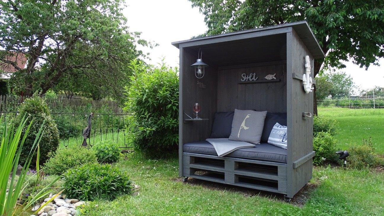 Lieblingsplatz Garten Couch Strandkorb Aus Paletten Wohnen Und Garten