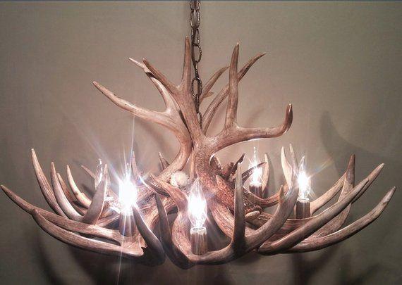 Real Antler Chandelier Rustic Chandelier Deer Chandelier Pendant