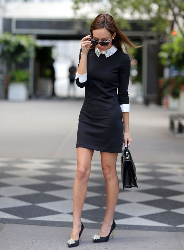 a6ce518c2 nice lbd with white accents - and pretty heels