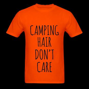 BLACK GLITZ PRINT! Camping Hair Don't Care, Unisex T-Shirt