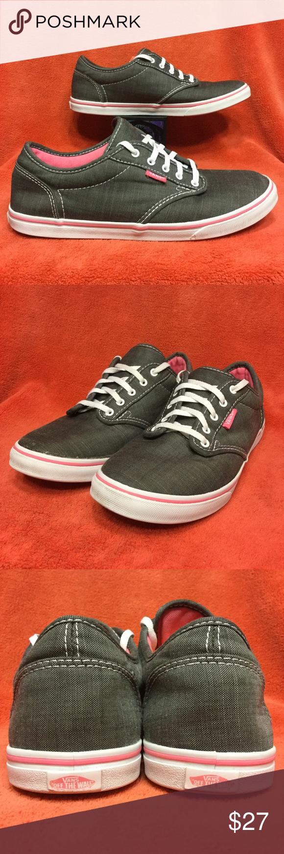 VANS ATWOOD LO skate pro era gray/pink . 39 w8.5   Vans, Womens ...