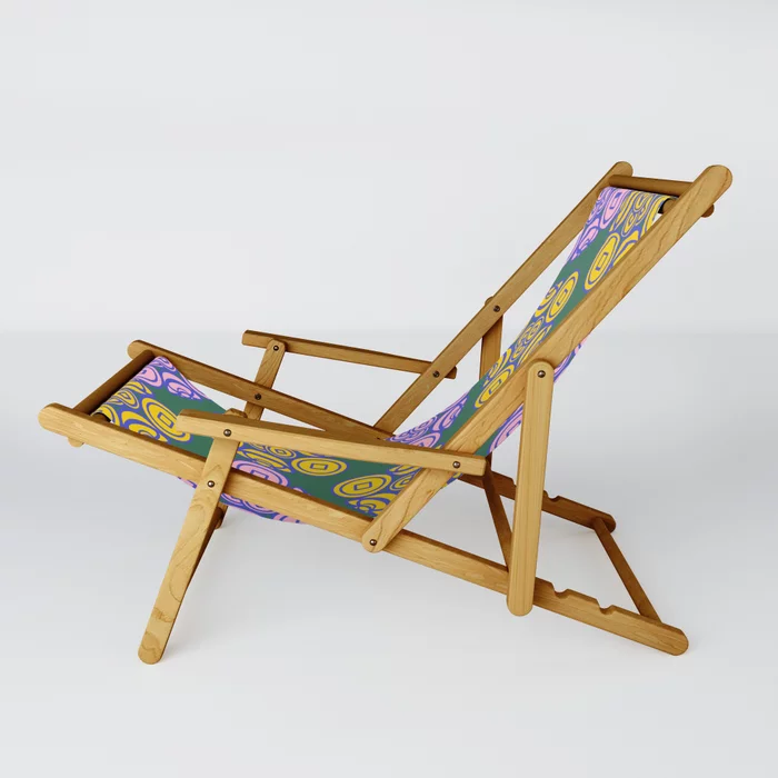 Ancient Chinese Money Mixed Stock Geo Zigzag Pattern Iris Purple X Pink X Yellow X Green Sling Chair By Infrontofmi Society6 In 2020 Sling Chair Chair Blue Patio