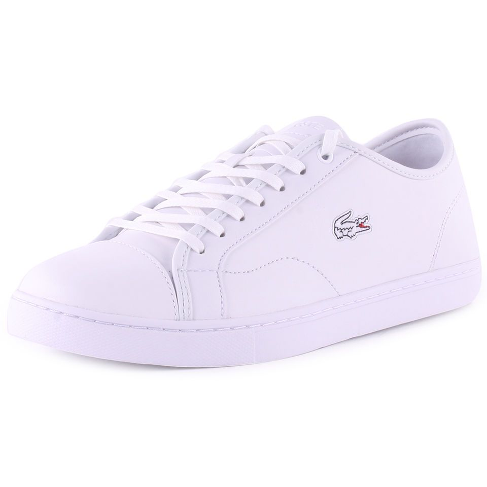 6470f409a Lacoste Showcourt Pri2 Mens Leather White White Trainers New Shoes All Sizes