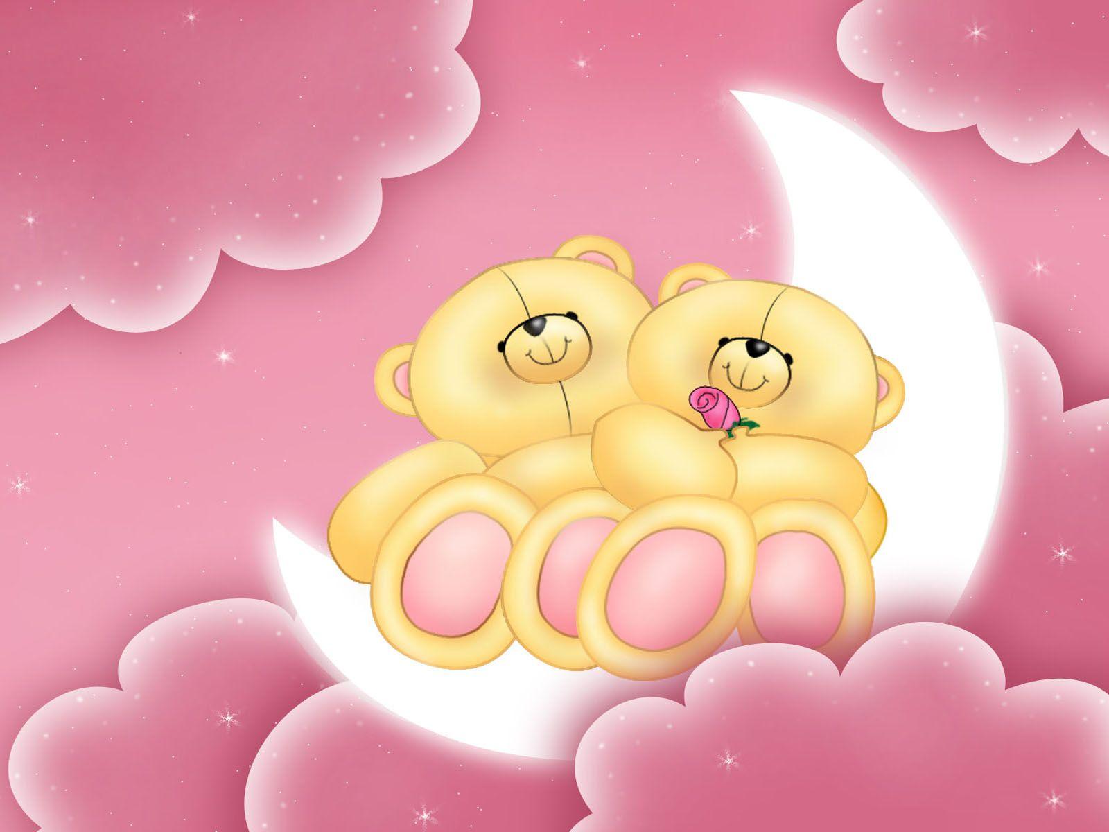 Pin Van Haruka Op Liefdexx Roze Achtergronden Beertjes Liefde