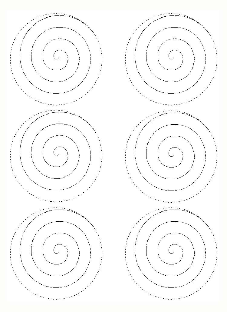 Rose Spiral Template Paper Rose Template Paper Flower Patterns