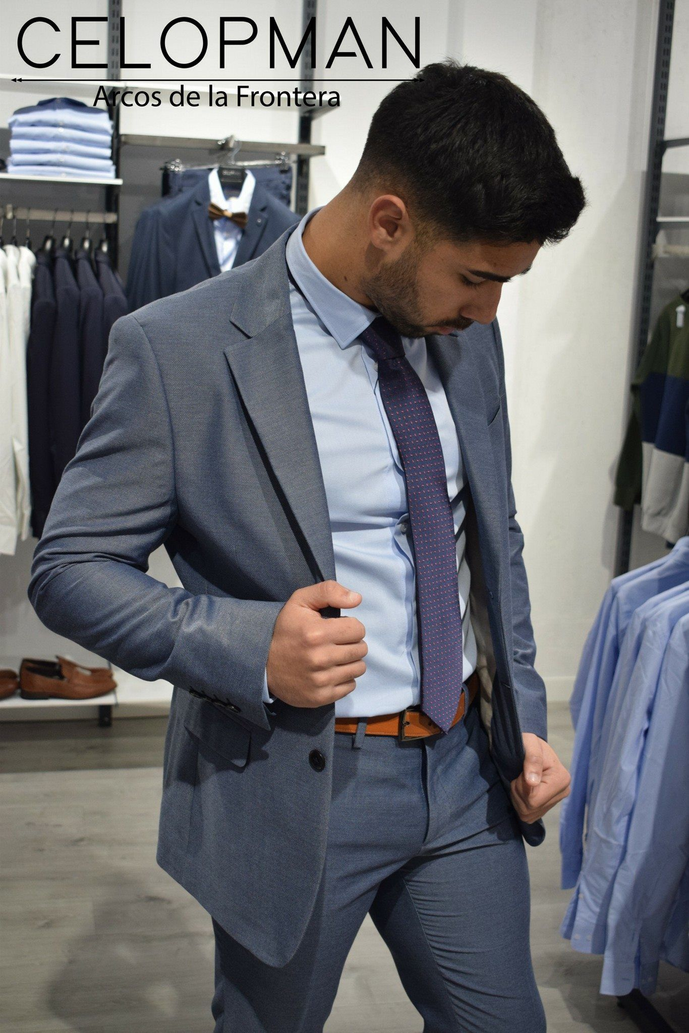 Camisa Gris Arcos Ss18 By Vestir Traje Outfit Celopman Azulado xqwp4q0 2056f411945
