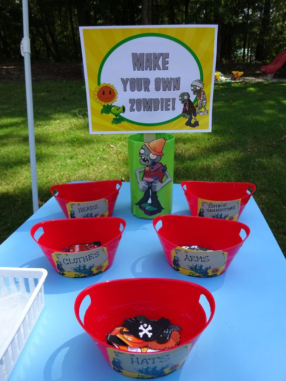 Make Your Own Zombie Plants Vs Zombies Party Zombie Party Zombie Birthday Parties Plants Vs Zombies Birthday Party