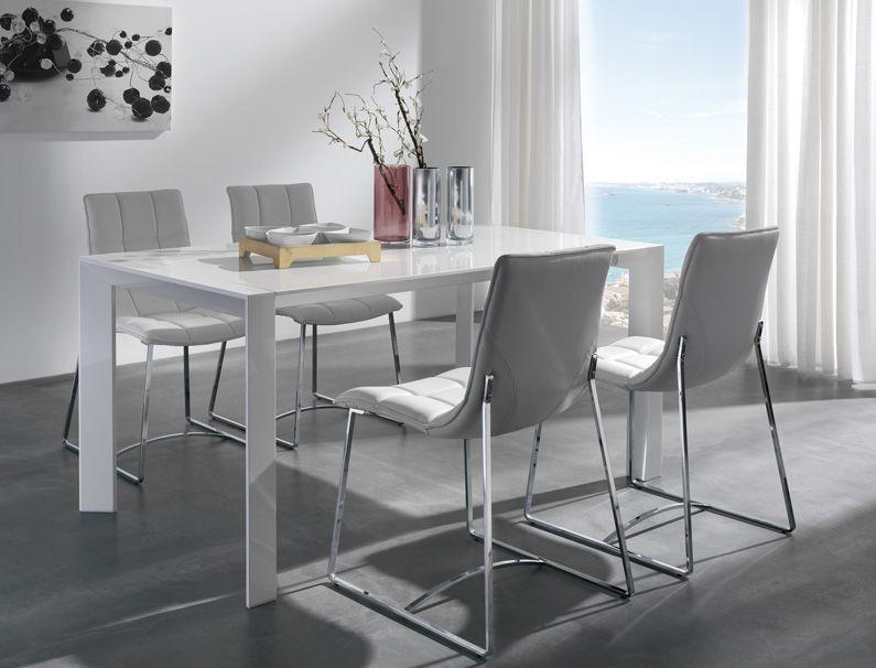 Mesa comedor medidas 160 240 x 90 x 75 extensible a a for Sillas blancas modernas para comedor