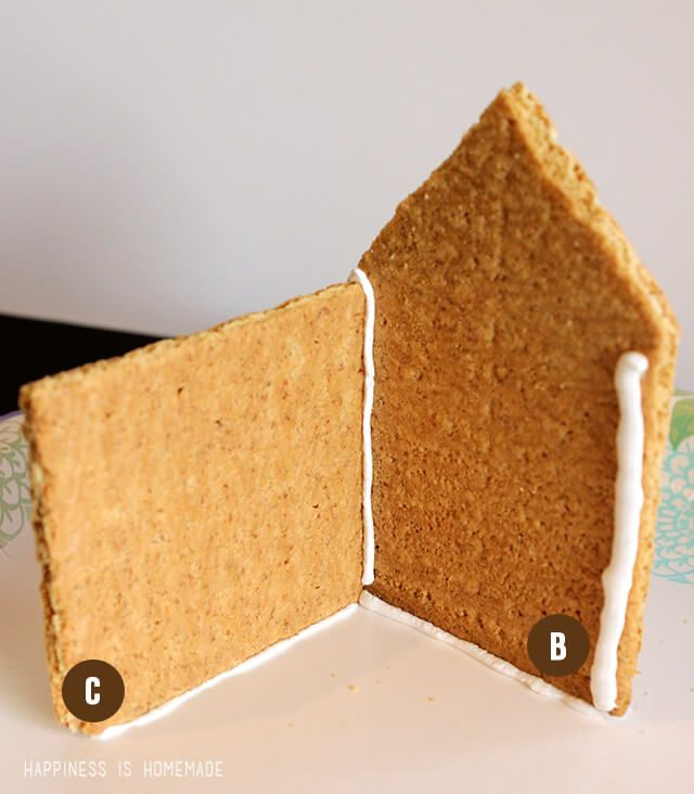 How to make graham cracker gingerbread houses the holidays how to make graham cracker gingerbread houses the holidays pinterest graham cracker gingerbread house gingerbread and craft solutioingenieria Image collections