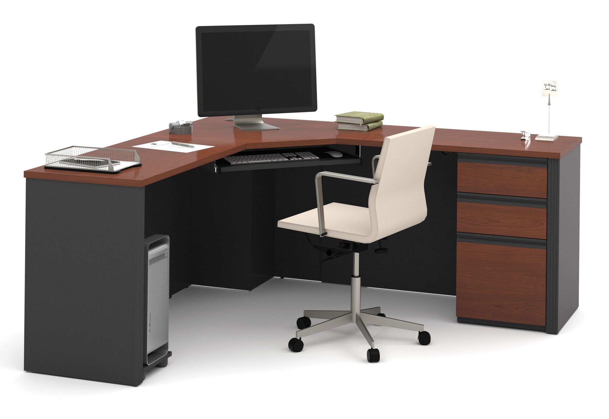 Bukovno corner desk with pedestal products pinterest products