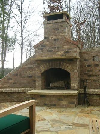 Brick Fireplace With Stone Hearth And Mantel Cottage Interiors Brick Fireplace Brick