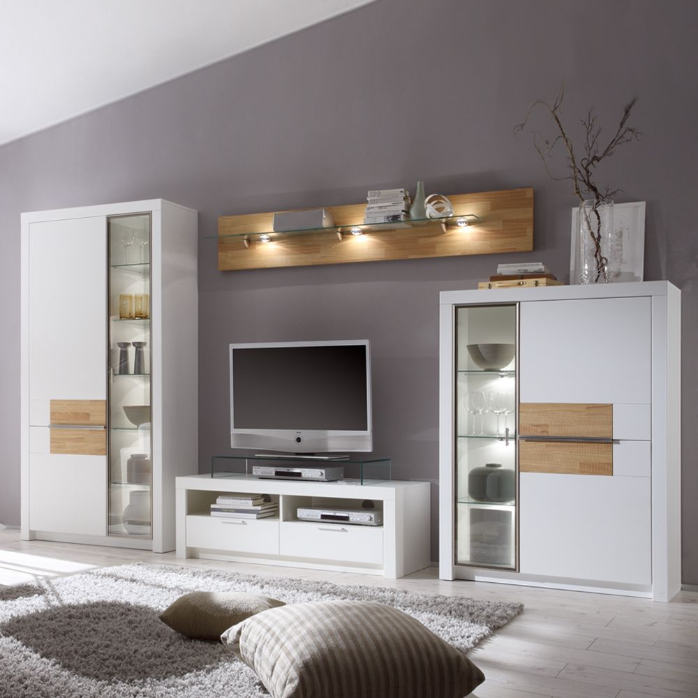 genial wohnwand wei g nstig wohnung haus in 2019 wohnzimmer wohnwand weiss und wohnen. Black Bedroom Furniture Sets. Home Design Ideas
