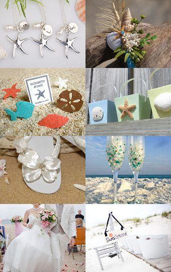 Summer Beach Wedding on Etsy - Pinned with TreasuryPin.com