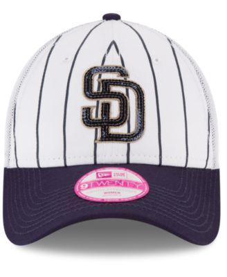 3cd903f4 New Era Women's San Diego Padres Trucker Lust 9TWENTY Cap - White/Navy  Adjustable