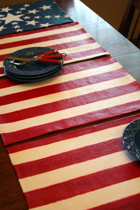 Sweet Something Designs Red White Blue Blue Placemats Red Patriotic Holidays