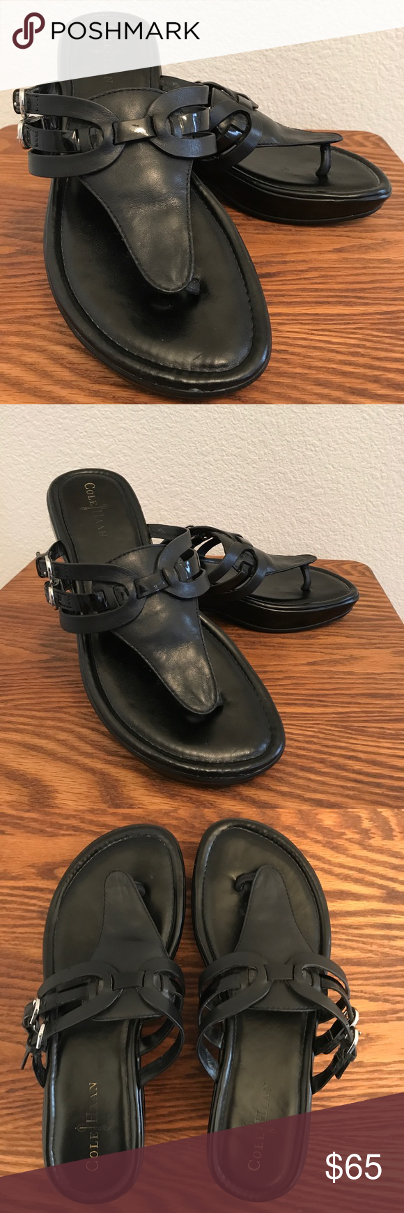 "820033266eb Cole Haan Leather Thong ""Air Melissa"" Sandals 8 M Really lovely"