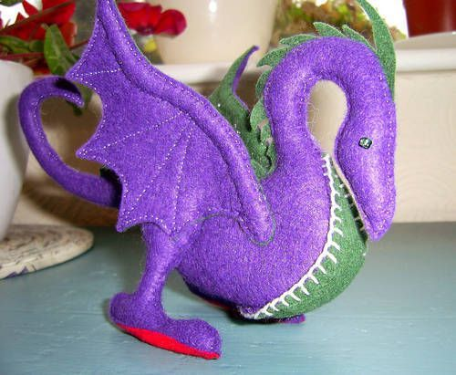 Felt dragon! - TOYS, DOLLS AND PLAYTHINGS #feltdragon Felt dragon! - TOYS, DOLLS AND PLAYTHINGS #feltdragon