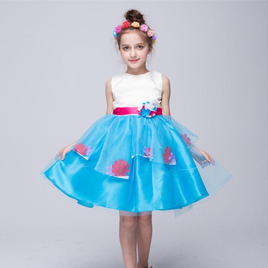 3-12Y Summer Girls Dress 2017 Brand Princess Dress Sleeveless ...