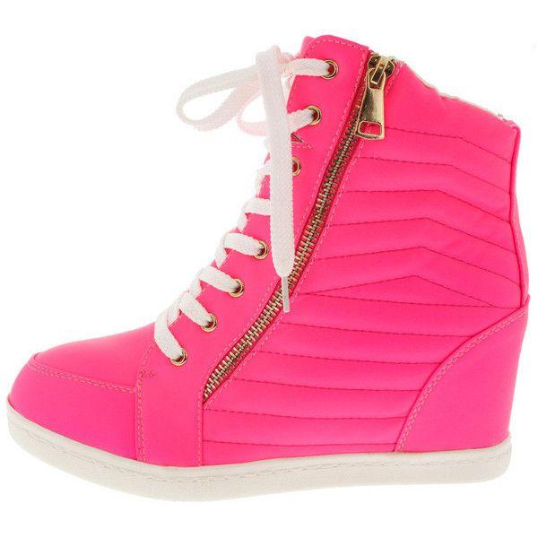 Wedge heel sneakers, Fashion shoes sneakers