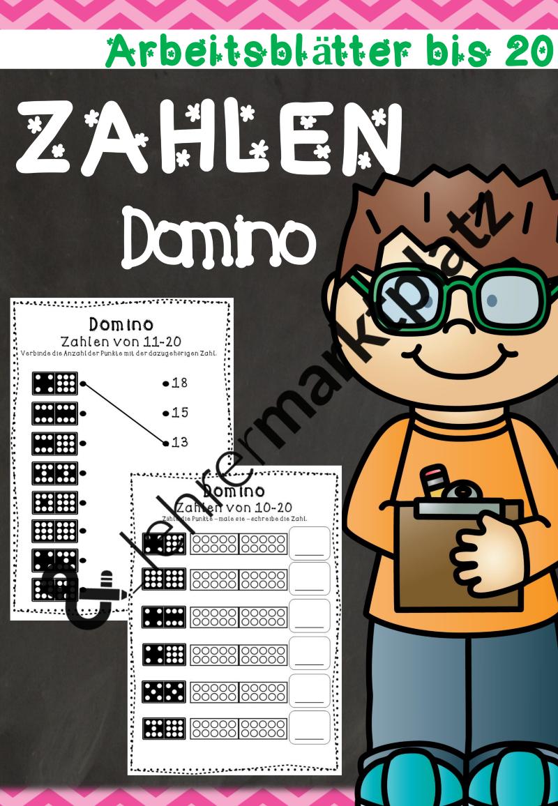 ZR 20 -Zahlendomino (Arbeitsblätter) – Mathematik   Arbeitsblätter ...