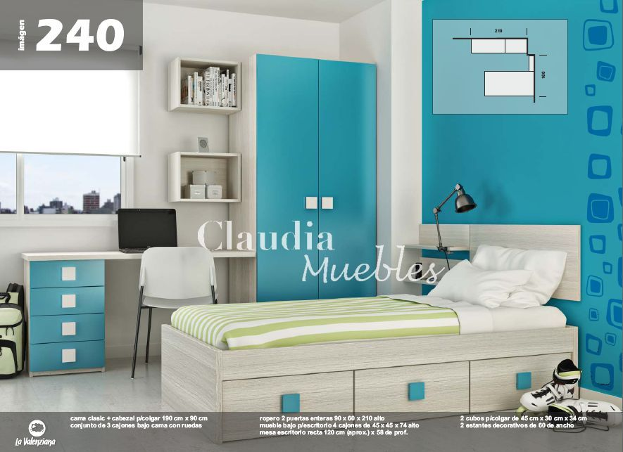 Claudia muebles cama clasic de 1 plaza y media for Divan cama plaza y media