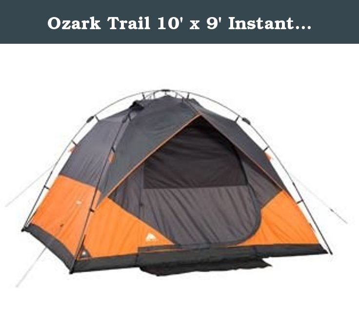 Ozark Trail 10u0027 x 9u0027 Instant Dome Tent Sleeps 6. The Ozark Trail Instant Dome Tent sets up in 30 seconds. This six-person tent requires no assembly because ...  sc 1 st  Pinterest & Ozark Trail 10u0027 x 9u0027 Instant Dome Tent Sleeps 6. The Ozark Trail ...