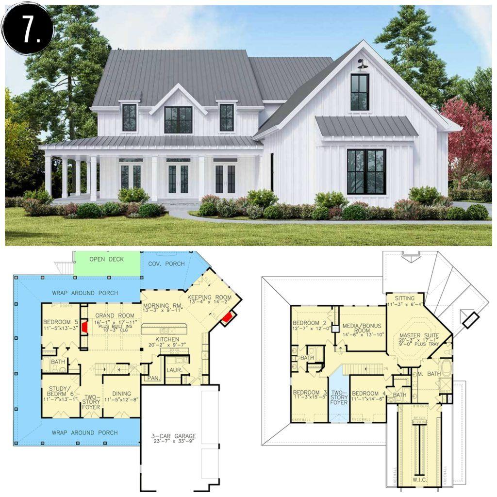 10 Amazing Modern Farmhouse Floor Plans Farmhousefloorplan Modern Farmhouse Floorplan Farmhouse Floor Plans Modern Farmhouse Plans